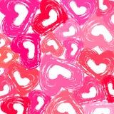 Papel pintado de los corazones de Grunge Imágenes de archivo libres de regalías