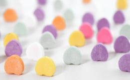 Papel pintado de los corazones del caramelo Fotografía de archivo libre de regalías