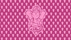 Papel pintado de los muchos dios del ` s del elefante del ganesha con el fondo púrpura ilustración del vector