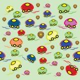 Papel pintado de los niños con las máquinas animated Stock de ilustración