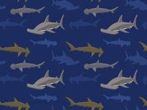 Papel pintado 15 de los tiburones stock de ilustración