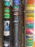Papel pintado de los tubos Fotografía de archivo