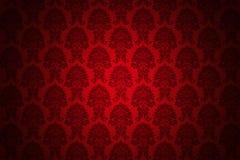Papel pintado de lujo rojo retro Imágenes de archivo libres de regalías