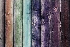 Papel pintado de madera pintado del fondo de los tablones Imagenes de archivo
