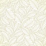 Papel pintado de oro inconsútil de las hojas libre illustration