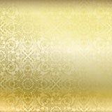 Papel pintado de oro inconsútil del damasco stock de ilustración
