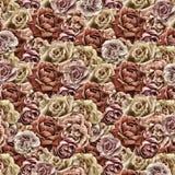 Papel pintado de papel de las rosas viejas Fotografía de archivo