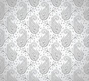 Papel pintado de plata real inconsútil de Paisley Imagen de archivo