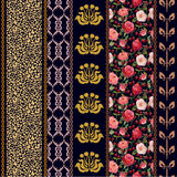 Papel pintado de seda del vintage del art déco con adornos étnicos y elementos bohemios Imágenes de archivo libres de regalías