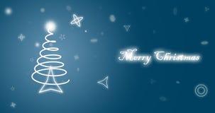 Papel pintado del azul de la Feliz Navidad libre illustration