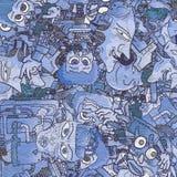 Papel pintado del azul del arte imagen de archivo libre de regalías