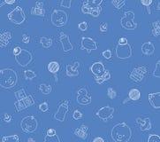 Papel pintado del bebé azul Foto de archivo libre de regalías