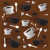 Papel pintado del café Imagen de archivo