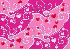 Papel pintado del corazón Imágenes de archivo libres de regalías