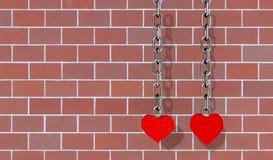 Papel pintado del corazón del amor Fotografía de archivo libre de regalías