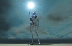 Papel pintado del Cyborg ilustración del vector