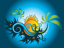 Papel pintado del día de fiesta de la playa del verano ilustración del vector