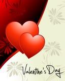 Papel pintado del día de tarjeta del día de San Valentín Foto de archivo