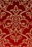 Papel pintado del estilo del damasco del oro Imagen de archivo libre de regalías