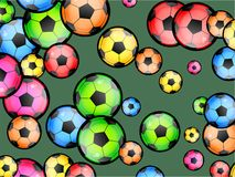 Papel pintado del fútbol Fotografía de archivo