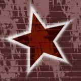 Papel pintado del fondo de Grunge de la pared de ladrillo de la estrella Fotografía de archivo