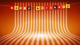 Papel pintado del fondo del feliz cumpleaños stock de ilustración