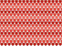 Papel pintado del modelo de los corazones de la tarjeta del día de San Valentín Fotos de archivo libres de regalías