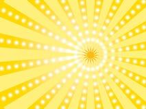 Papel pintado del oro con el sol Foto de archivo libre de regalías