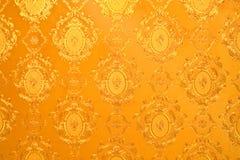 Papel pintado del oro viejo Foto de archivo libre de regalías