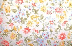 Papel pintado del provance del vintage con el estampado de flores Foto de archivo libre de regalías