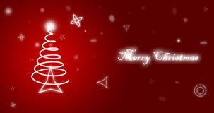 Papel pintado del rojo de la Feliz Navidad stock de ilustración