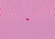 Papel pintado del túnel del corazón Fotografía de archivo libre de regalías