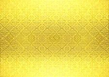 Papel pintado del vintage del oro Imagen de archivo libre de regalías
