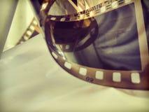 Papel pintado del vintage del rollo del cine Imagen de archivo libre de regalías