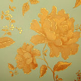 Papel pintado elegante lamentable del vintage con el modelo floral del victorian Imagenes de archivo