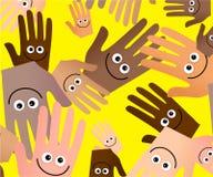 Papel pintado feliz de las manos Fotos de archivo libres de regalías