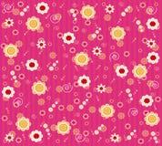 Papel pintado floral Imagenes de archivo