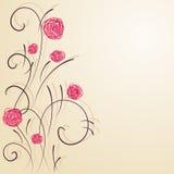 Papel pintado floral Foto de archivo libre de regalías