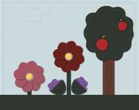 Papel pintado floral ilustración del vector