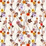 Papel pintado floral adorable, modelo incons?til con las flores del verano ilustración del vector