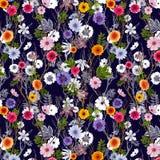 Papel pintado floral adorable, modelo incons?til con las flores del verano libre illustration
