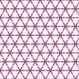 Papel pintado floral del extracto del diseño del ejemplo del vector del fondo del modelo de la tela de la teja de la cubierta de  Foto de archivo
