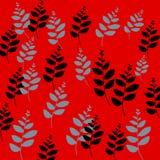 Papel pintado floral del vástago Foto de archivo libre de regalías