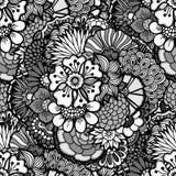 Papel pintado floral drenado mano Fotos de archivo libres de regalías