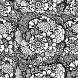 Papel pintado floral drenado mano Fotografía de archivo