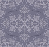 Papel pintado floral gris inconsútil Fotografía de archivo libre de regalías