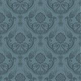 Papel pintado floral gris inconsútil de lujo Fotografía de archivo libre de regalías