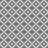Papel pintado floral negro y blanco inconsútil del fondo Fotografía de archivo