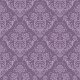 Papel pintado floral púrpura inconsútil Imagen de archivo libre de regalías