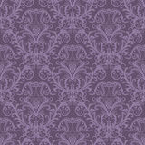 Papel pintado floral púrpura inconsútil Imágenes de archivo libres de regalías